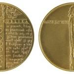 ČNB vydává zlatou minci připomínající 600. výročí upálení mistra Jana Husa