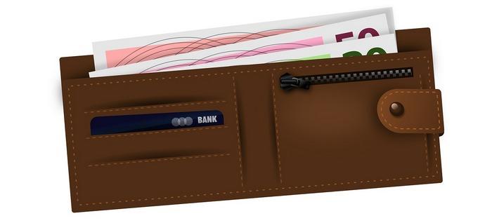 peněženka - kreditní karta