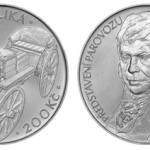 Stříbrná mince od ČNB k představení parovozu