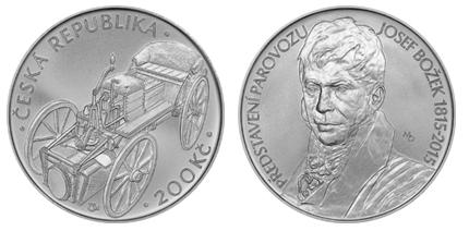 Mince k připomenutí 200. výročí představení parovozu